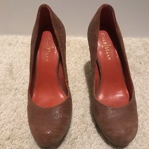 Cole haan Nike Air platforms heels, brown, 6.5